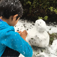 11月に雪遊び(^-^)