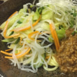 サラダ肉味噌麺