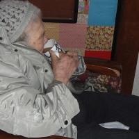 おばあちゃん帰って来ました。