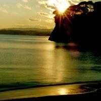1月8日   夕日の浜