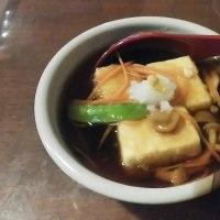 揚げ出し豆腐と揚げなすで一杯です。