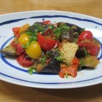茄子とトマトの味噌炒め