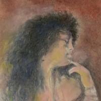 ~ジャン・デルヴィル作:「ジャン・デルヴィル夫人の肖像」  模写