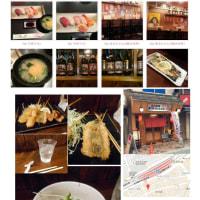 大阪(神戸)での昼飲み⑥。「にぎり寿司・串揚げ+麦酒」、2100円。居酒屋・武相荘