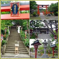赤い鳥居が連なる高山稲荷神社