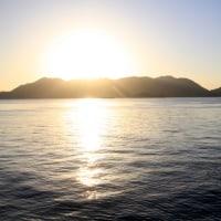 南国チック海岸 夕景 波の翼 2016.10.24