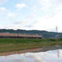 6月4日撮影 しなの鉄道北しなの線 水鏡その1