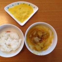 今日の離乳食(朝御飯)【116日目】