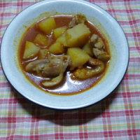 鶏肉とジャガイモのコチュジャン煮