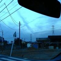 今日の1枚 十字の雲
