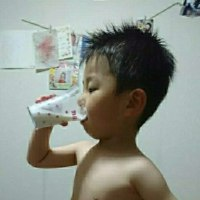 た~ぼちゃん 飲みます、、お風呂上りの牛乳