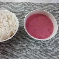 ピンクのカレー