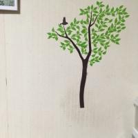 壁に木を描いてみましたー
