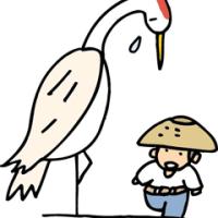7月25日の日本民話 助けたツルの恩返し