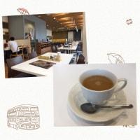 千葉大学病院の敷地内にレストランが出来ました。先週オープンしたばかり。コーヒーを飲みます。