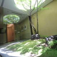 京都現代美術館の中庭