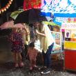 天神祭りも雨の中