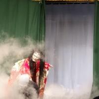 大雪の中神楽大会へ出かける
