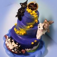星空のウエディングケーキ♪制作風景です