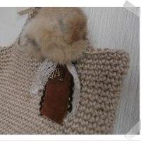 編み編みバック、冬仕様♪