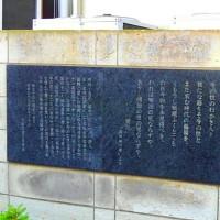 文豪永井荷風の文学碑もあった 遊蕩の作家だけに場所にふさわしいってか・・・・無言
