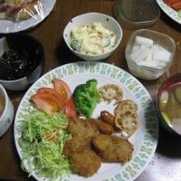 1/16 ばんごはん ひとくちヒレカツ