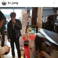 なんか撮影中💚(*゚▽゚)【 pic】170424 ジェジュン