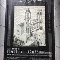 だまし絵の巨匠 エッシャー展に行きました。(広島県立美術館)