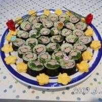 かわいい細巻き寿司を作ってみました。