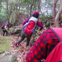 12 夫婦岩山(240m:山口県周南市)登山  下山の様子