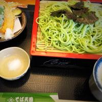 昼ご飯は、天ざる三男(そば天国 恵み野店)