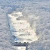 鶴居村・雪裡川を傍観。