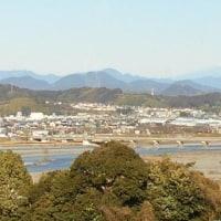 囲碁と大井川から見える富士山