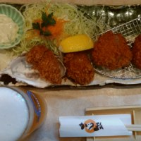 (富士市)カツ政 ヒレ&カキフライ定食