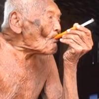 145歳男性発見される。煙草が長寿の秘訣か?
