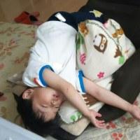 疲れて昼寝(^o^;)