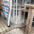 中古 350×405アクリル円柱水槽と台のセット