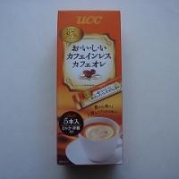 UCCカフェインレスカフェオレスティック5本入