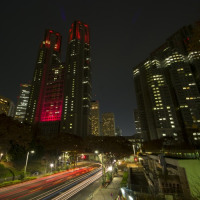 世界エイズデー予防月間 ライトアップ
