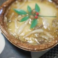 太刀魚の塩焼きと豆腐のあんかけと粕汁でごはん
