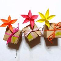 ジャスミンとギフトボックス 折り紙