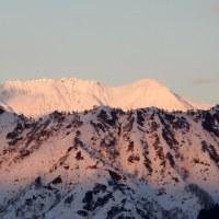 雪山の夕暮れ!