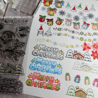 koyagiオリジナルクリアスタンプセット・クリスマス・試しぬり