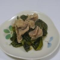 小松菜の豚コマの煮浸し