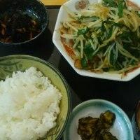 肉ニラ炒め定食