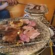 今日は しちりん で炭火焼き肉!一皿300円(^^)d