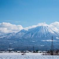 雪景色の中の大山