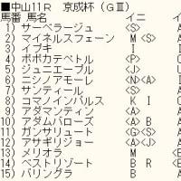 「京成杯」のカバラ暗示付き出馬表
