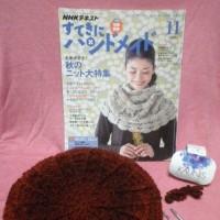 すてきにハンドメイドのベレー帽を、カウニスでも編んでみました♪