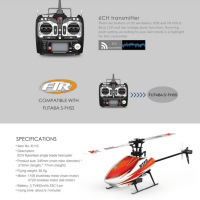 XK Blash K110 6CH ブラシレス 3D6G システム RTF 2.4GHz ヘリコブター FUTABA S-FHSSと互換性があり大値下げ